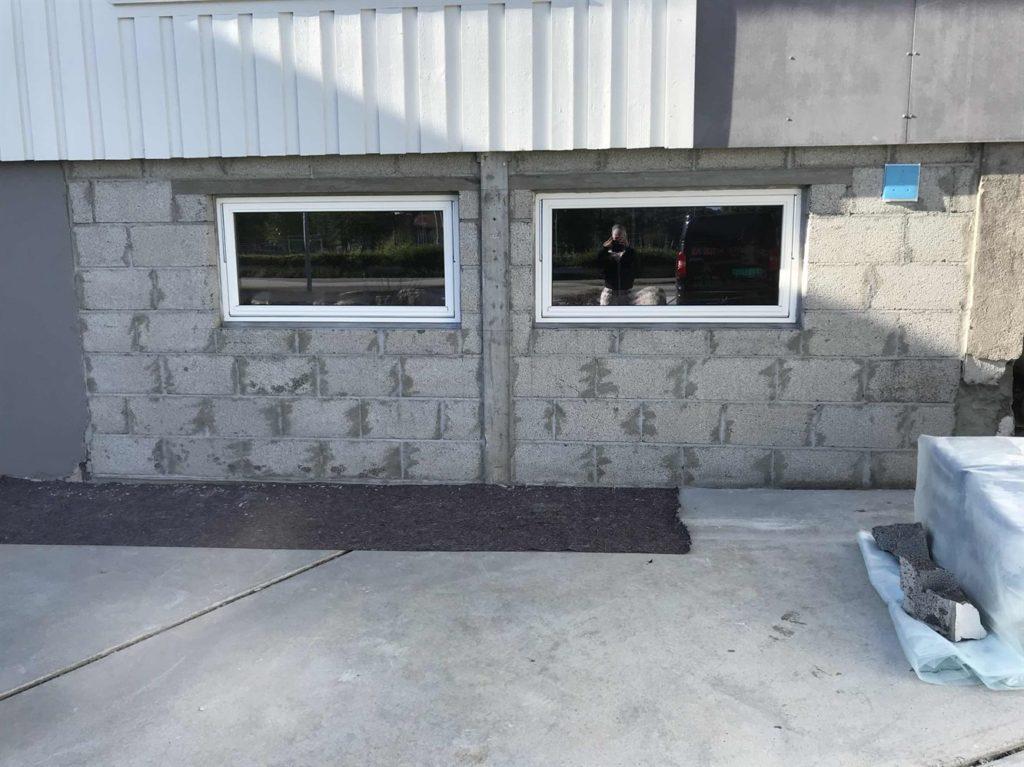 Tidligere garasje - ombygging til kjellerrom