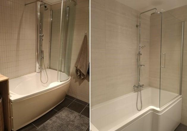 Oppussing av bad – før etter